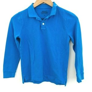 Crewcuts Blue Long Sleeve Polo Shirt 10
